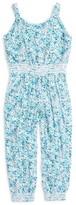 Splendid Girl's Floral Print Jumpsuit