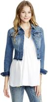 Motherhood Jessica Simpson Frayed Hem Denim Maternity Jacket