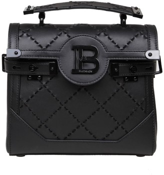 Balmain B-buzz 23 Bag In Quilted Leather Color Black