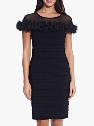 Adrianna Papell Matte Jersey Knit Ruffle Dress, Black