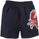 City Threads Crab Applique Swim Trunks (Baby) - Navy-9-12 Months