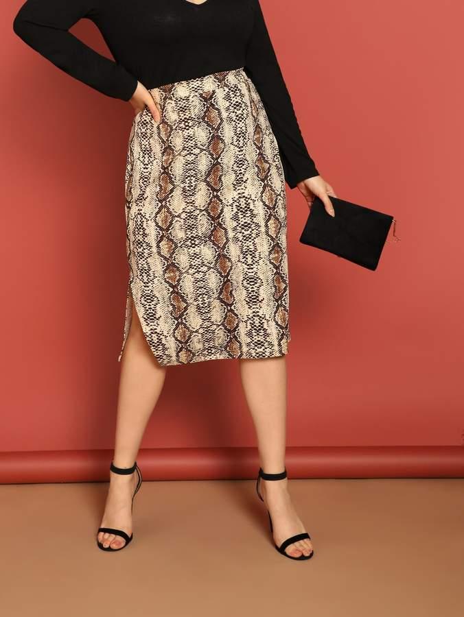 09c1d2d273 Snakeskin Print Skirt - ShopStyle