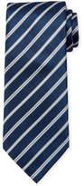 Brioni Satin Stripe Silk Tie