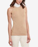 Lauren Ralph Lauren Petite Contrast-Neckline Jersey Top