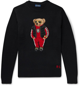 Polo Ralph Lauren Bear-Intarsia Wool Sweater