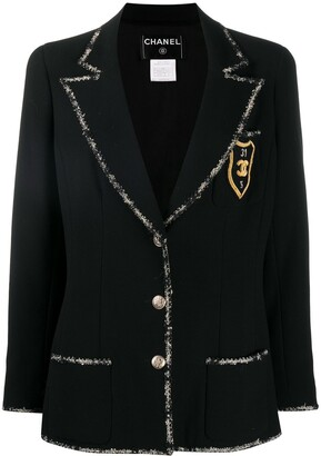 Chanel Pre Owned 2005 Cruise wool-trimming school blazer
