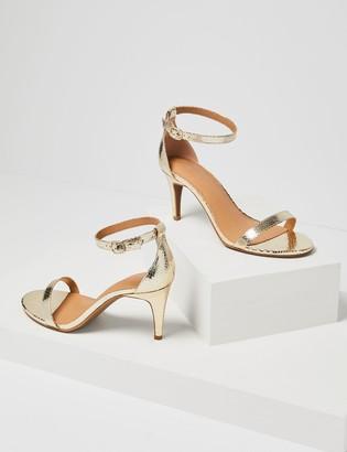 Lane Bryant Ankle Strap Heel - Gold