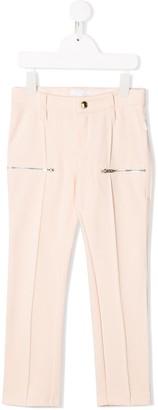 Chloé Kids zipped pockets trousers
