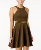 City Studios Juniors' Strappy-Back Fit and Flare Dress