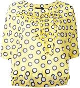 Moschino printed ruffle blouse - women - Silk/Cotton - 42