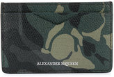 Alexander McQueen camo-print cardholder - men - Cotton/Calf Leather - One Size