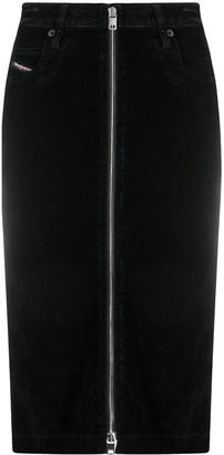 Diesel D-Elbee-SP velvet pencil skirt