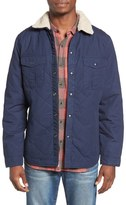 Lucky Brand Quilted Shirt Jacket with Faux Shearling Collar