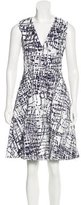 Prabal Gurung Tweed-Accented A-Line Dress
