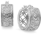 Townsend Victoria Small Rose-Cut Diamond Hoop Earrings in Sterling Silver or 18k Gold (1/2 ct. t.w.)