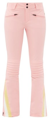 Perfect Moment Chevron-cuff Soft-shell Ski Trousers - Pink