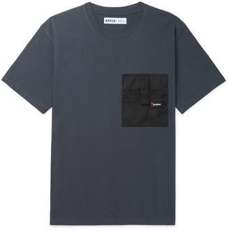 AFFIX Canvas-Panelled Cotton-Jersey T-Shirt