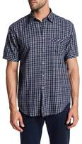 James Campbell Annie Plaid Short Sleeve Regular Fit Shirt