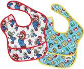 Bumkins Nintendo 2 Piece Super Bib, Mario Classic/Icons, 6-24 months by