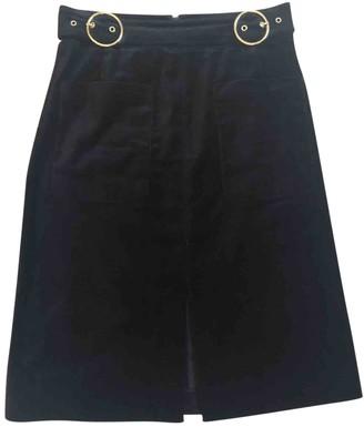 Whistles Black Cotton Skirt for Women