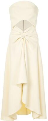 Dion Lee Pierced Off-Shoulder Concave Dress