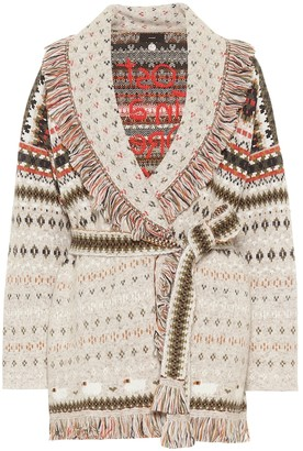 Alanui Lost in a Forest cashmere-blend cardigan