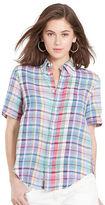 Polo Ralph Lauren Plaid Linen Short-Sleeve Shirt