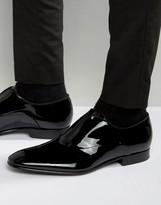 Hugo By Hugo Boss Black Evening Patent Slip On Loafers