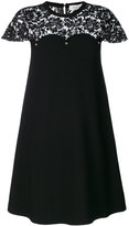 Valentino lace detail dress - women - Polyester/Viscose - S
