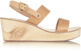 Ancient Greek Sandals Clio Clog leather wedge sandals
