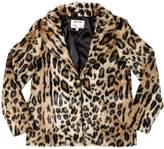 Zadig & Voltaire Zadig&voltaire Leopard Printed Faux Fur Jacket