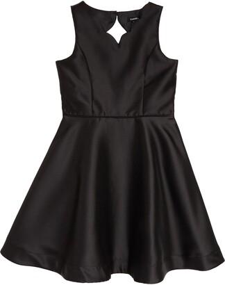 Zunie Scallop Fit & Flare Dress