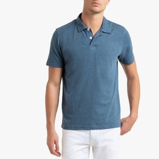 La Redoute Collections Polo Shirt in Marl Cotton Jersey