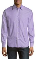 Brioni Regular-Fit Striped Cotton Dress Shirt