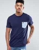 Lyle & Scott Pocket T-Shirt Eagle Logo Regular Fit in Navy