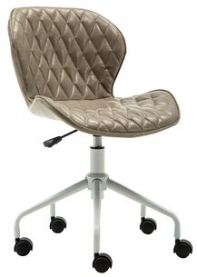 Wrought Studio Havard Swivel Task Chair Wrought Studio Upholstery Color: Gray