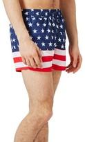Topman Men's Usa Flag Print Swim Trunks