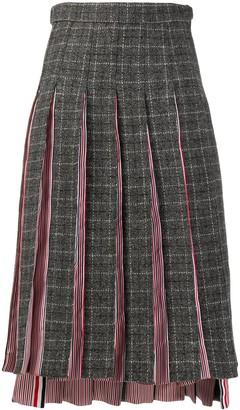 Thom Browne Pleated Mid-Length Skirt