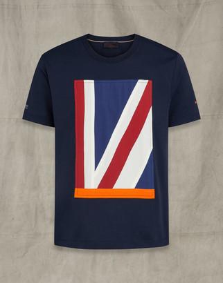 Belstaff Britannia Applique T-Shirt Blue