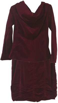 Louis Vuitton Burgundy Velvet Dresses