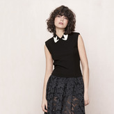 Maje Sleeveless top with decorative collar