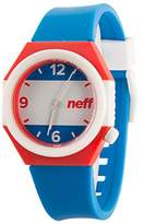 Neff Unisex NF0225AMRN Stripe Analog Display Japanese Quartz Blue Watch
