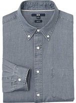 Uniqlo Men Denim Slim Fit Long Sleeve Shirt