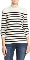 Equipment Wilder Stripe Silk & Cashmere Blend Turtleneck