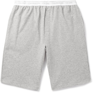 Calvin Klein Underwear Melange Stretch Cotton-Blend Pyjama Shorts