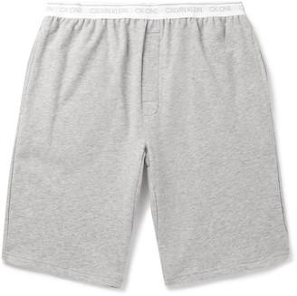 Calvin Klein Underwear Melange Stretch Cotton-Blend Pyjama Shorts