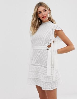 Stevie May bonita mini dress-White