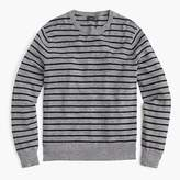 J.Crew Tall rugged cotton crewneck sweater in pewter stripe
