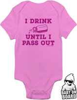 Daft Baby I Drink Until I Pass Out Funny Newborn Baby Boy Onesie Bodysuit (3-Months)