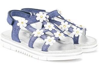 MonnaLisa Daisy Embellished Sandals